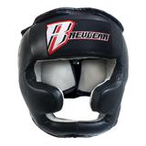 Revgear Leather Headgear with Chin Guard